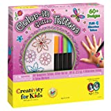 Color-in Glitter Tattoos