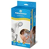 AquaSense 3 Setting Handheld Shower Head with Ultra-Long Stainless Steel Hose, White