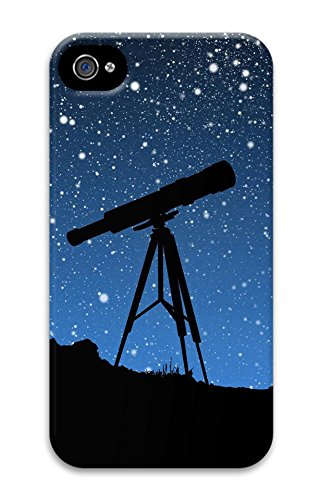 Iphone 4 4S Case, Iphone 4 4S Cases Sky Telescope Custom Design Pc Soft Case Cover Protector For Iphone 4 4S