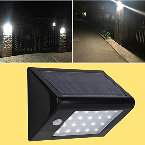 Icoco bright solar light solar powered outdoor motion for Lampe led jardin