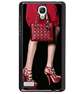 Printvisa Lady In Red With A Bag Back Case Cover for Xiaomi Redmi Note::Xiaomi Redmi Note 4G