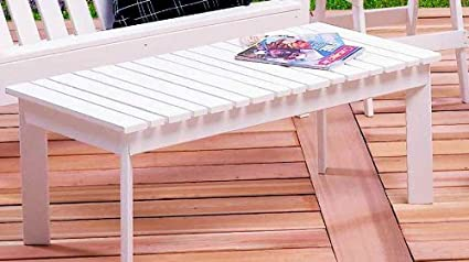 Coffee Table 40L x 20H Satin White