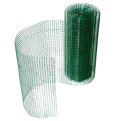 casa pura Wire Fencing, Green   Galvanized - Square Structure   Length and Height Selectable