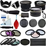PLR Optics 52mm Complete Essential Filter and Lens Deluxe Kit - Includes:.42X Fisheye Lens + 0.43x Wide Angle Lens + 2.2x Telephoto Lens + Filter Kit (UV CPL ND9 FLD) + Macro Close Up Set (+1 +2 +4 +10) + Special Effects(4XStar Soft Focus Warming) + Lens Hood + Lens Cap + Wrist Strap + Cleaning Kit For The Nikon D5300 D5000 D3000 D3200 D5100 D5200 D3100 D7000 D7100 D4 D800 D800E D600 D610 D40 D40x D50 D60 D70 D80 D90 D100 D200 D300 D3 D700 Digital SLR Cameras