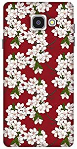 The Racoon Grip Cherry Flowers hard plastic printed back case / cover for Samsung Galaxy A7 (2016)