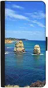 Snoogg Abstract Ocean View Designer Protective Phone Flip Back Case Cover For Samsung Galaxy J7 (2016)