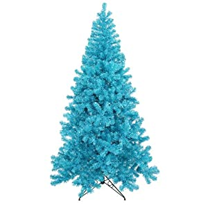 6 39 sky blue pre lit laser tinsel artificial christmas tree