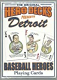 Detroit Tigers Hero Decks Playing Cards Poker Sized 52 Card Deck at Amazon.com