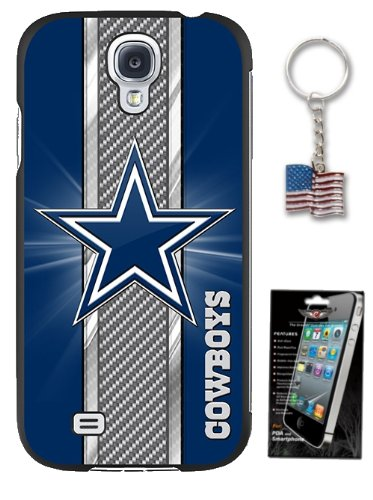 Galaxy S4 Dallas Cowboys Slim Case ** Bonus Screen Protector & American Flag Keychain** Officially Licensed NFL Lightweight Hard Shell Cover Case at Amazon.com
