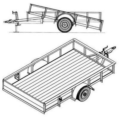 trailer blueprints  u2013 10ft  x 6ft  utility trailer