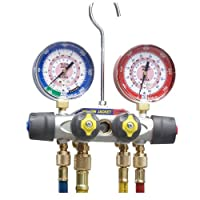 Yellow Jacket 49963 Manifold Only degrees F, psi Scale, R-22/404A/410A Refrigerant, Red/Blue Gauges from Fotronic Corporation