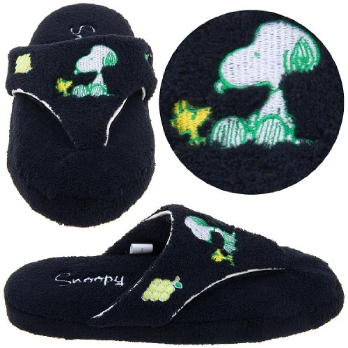 Cheap Snoopy and Woodstock Black Thong Slippers for Women (B004Z249J2)