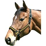 Intrepid International Leather Crown Diamond with Padded Nose Halter