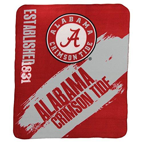 NCAA Collegiate School Logo Fleece Blanket (Alabama Crimson Tide, 50