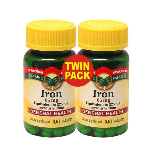 Spring Valley Iron 65 Mg 200 Tablets Equivalent To