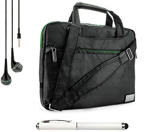 Nineo Sport Nylon Shoulder Bag Carrying Case For Nokia Lumia 2520 10.1-Inch Tablet (All Models) + Handsfree Earphones + Stylus Pen