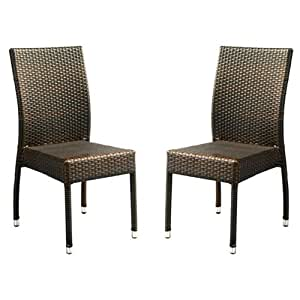 Safavieh patio collection newbury wicker for Outdoor furniture amazon