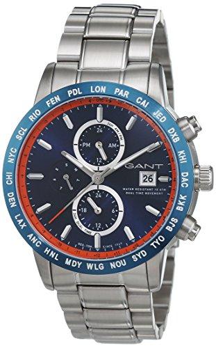 Gant Time orologio da polso da uomo al quarzo in acciaio inox GLOBETROTTER W11106