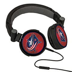 NHL Columbus Blue Jackets Washed Logo Headphones by Pangea Brands