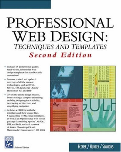 Professional Web Design: Techniques and Templates