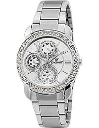 Dezine Chrono Pattern Silver Dial Ladies Analog Watch-Dezine Chrono Pattern Blue Dial Ladies Analog Watch-DZ-LR095...