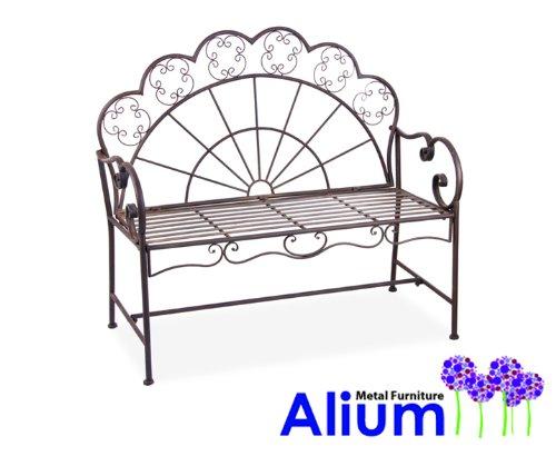 """Gartenbank """"Alium Calabrese"""" aus Stahl - Braun"""