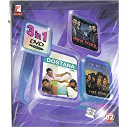 3 in 1 DVD - Yash Raj Films :- New York / Dostana / Kabul Express