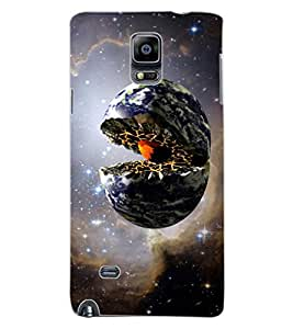 ColourCraft Creative Galaxy Image Design Back Case Cover for SAMSUNG GALAXY NOTE 4