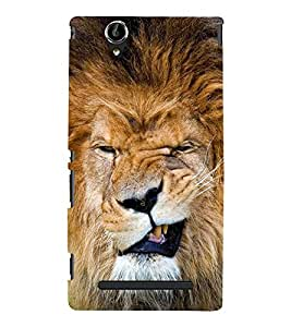 A SCOULED FACE LION FACE IMAGE 3D Hard Polycarbonate Designer Back Case Cover for Sony Xperia T2 Ultra :: Sony Xperia T2 Ultra Dual
