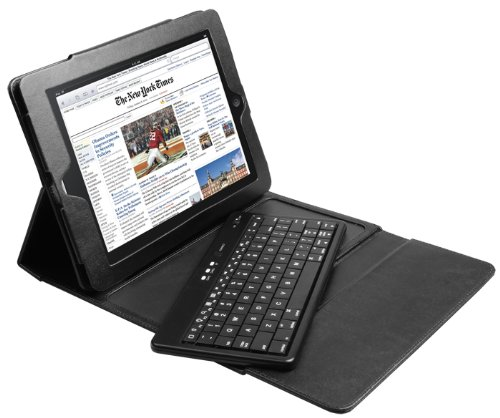 Brand New!Removable Bluetooth Keyboard folio Case Cover for iPad2