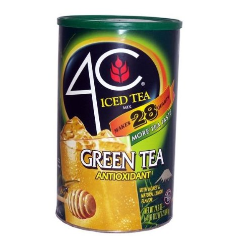 4C Green Tea Antioxidant Iced Tea Mix 74.2 oz (041387112122)