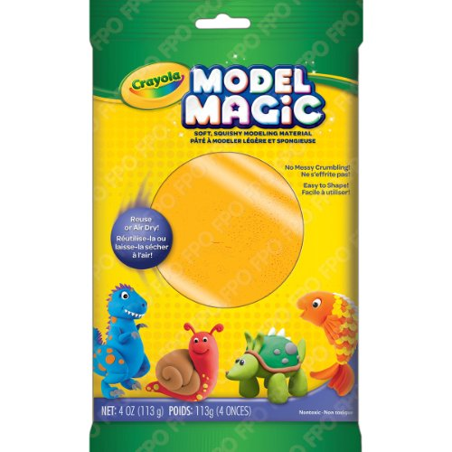 Crayola Model Magic Clay Bag, Neon Orange, 4-Ounce