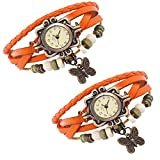 Combo of 2 VB-310 Vintage Butterfly Orange + Orange