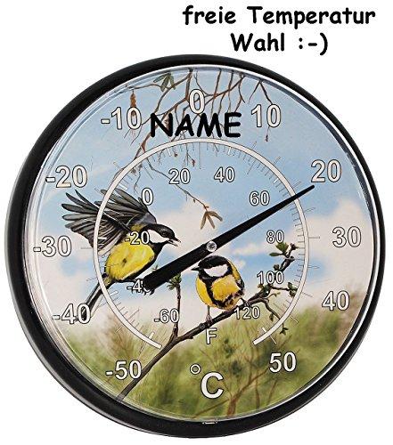 Scherzartikel-XL-Wand-Thermometer-Spa-Gradzahl-INDIVIDUELL-einstellbar-bunte-Vgel-incl-Name-Lernthermometer-Schule-lernen-Auenthermometer-Wandthermometer-OHNE-richtige-Funktion-Kinderthermometer-Wrme-