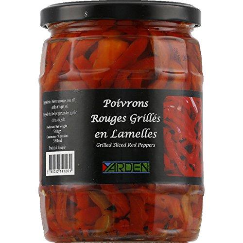 Yarden - Poivrons rouges grillés en lamelles - Le bocal de 540g - (pour la quantité plus que 1 nous vous remboursons le port supplémentaire)