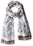 Roberto-Cavalli-Womens-Silk-Scarf-GreyLeopard-Print