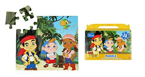"Jake and the Never Land Pirates / Disney Junior Floor Puzzle Gift Box (24-Piece) 9.1"" x 10.3"" by GoodyPlus - 1"