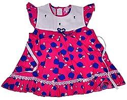 Be BeBo Girl's cotton Regular Fit Dress (562, Pink, 18-24 months)