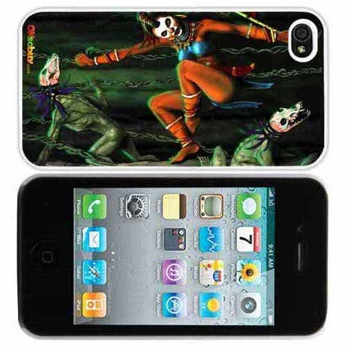 Zombie Clown Fashion Design Hard Case Cover Skin Protector for Iphone 4 4s Iphone4 At&t Sprint Verizon Retail Packing(white Pc Pearlescent Aluminum)fs-0129