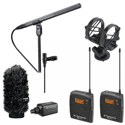 Sennheiser Wireless Ew 100-Eng G3, Audio Technica At897 Condenser Mic, Rode Sm3 Shock Mount, Rode Ws6 Deluxe Wind Shield