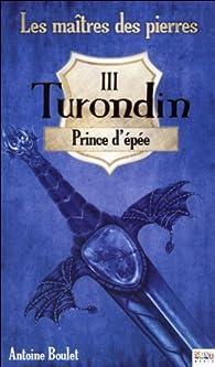 Les maîtres des pierres, tome 3 : Turondin, Prince d\'épée par Antoine Boulet