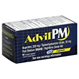 Advil Pain Reliever/Nighttime Sleep-Aid, Coated Caplets 80 caplets