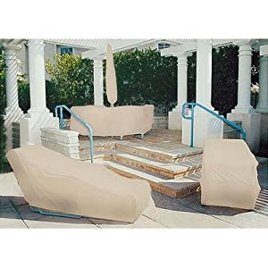 Premium Sandstone Beige Tron-weve Dix Umbrella Cover W Hi Reach Rod Fits Up To 13 from Dayva International