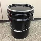 ペール缶 20L プラスチック製 オープン(蓋・外レバーバンド付)黒 p7a