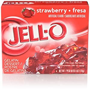 Jell-O Gelatin Dessert, Strawberry, 6 Oz