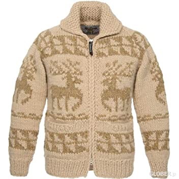 Kanata Full Zip Cowichan Sweater 39980: Natural Deer