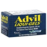 Advil Liqui-Gels Pain Reliever/Fever Reducer, 200 mg, Liquid Filled Capsules, 80 ct.