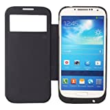 3200mAh Backup Power Battery Charger Flip Case for Samsung Galaxy S4 IV i9500 Color Black