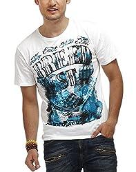 Chlorophile Men's Round Neck Cotton T-Shirt (Brd_White_Small)