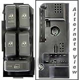 APDTY 012132 Chevy S10/Blazer/Tahoe/Suburban/Yukon/Bravada Master Power Window & Door Lock Switch (Front Left Driver-Side) (Replaces 19244658, 15151360)